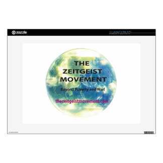 "Zeitgeist Movement Decals For 15"" Laptops"