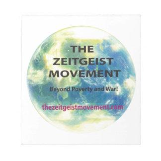 Zeitgeist Movement Notepad