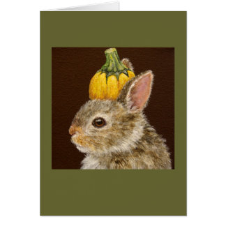 Zeke the baby bunny card