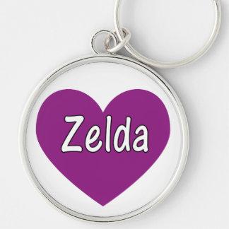 Zelda Llavero Redondo Plateado