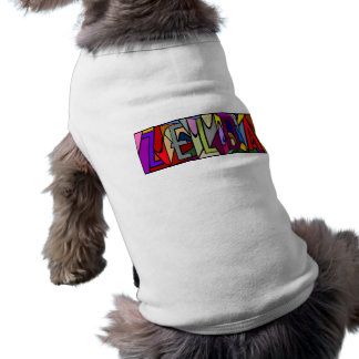 ZELDA ~ PERSONALIZED BIG LETTER PET-WARE FOR DOGS! DOGGIE TEE SHIRT