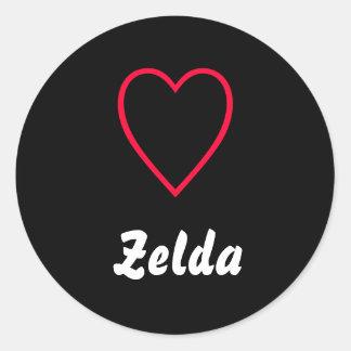 Zelda Round Stickers