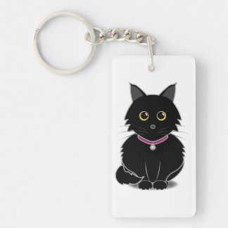 Zelda the Black Cat Keychain