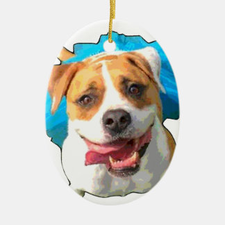 Zelda the Bulldog Ceramic Ornament