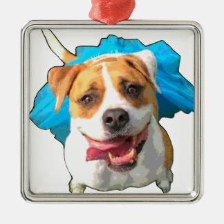 Zelda the Bulldog Metal Ornament