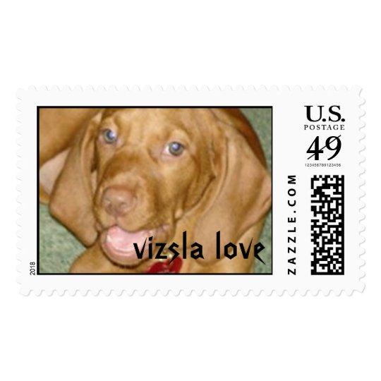 Zelda-the vizsla postage