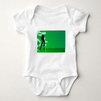 zelena silueta baby bodysuit