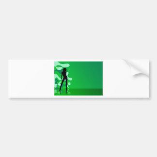 zelena silueta car bumper sticker