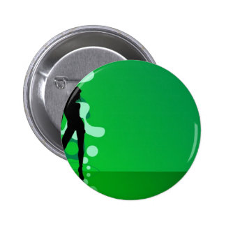 Zelena Silueta Pinback Buttons