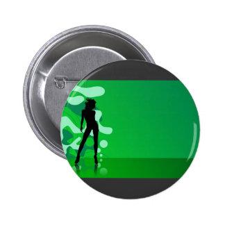 Zelena Silueta Pinback Button
