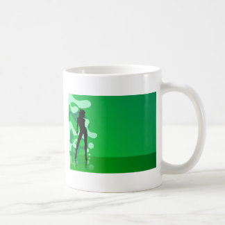 zelena silueta classic white coffee mug