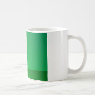 zelena silueta coffee mug