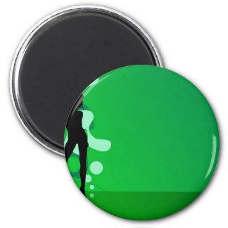 zelena silueta magnet
