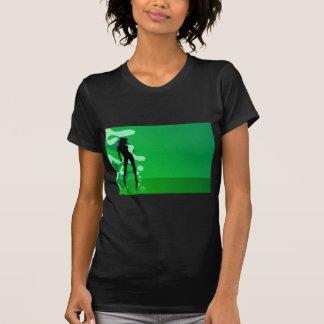 zelena silueta T-Shirt