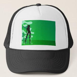 zelena silueta trucker hat