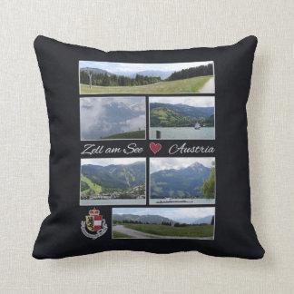 Zell am See, Austria throw pillow
