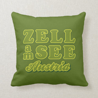 Zell am See throw pillow