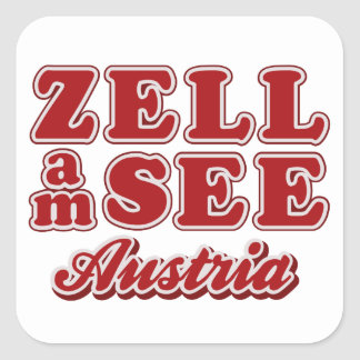 Zell ve a los pegatinas calcomanías cuadradas personalizadas