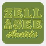 Zell ve a los pegatinas calcomanía cuadrada
