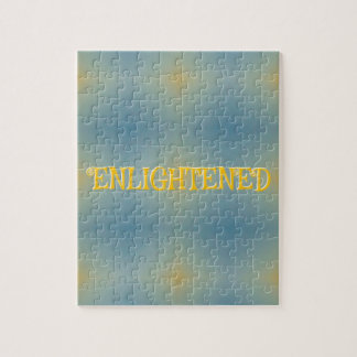 "Zen ""aclarado"" amarillo azul suave del modelo puzzle"
