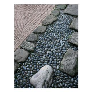 Zen and Abstract Garden Postcard