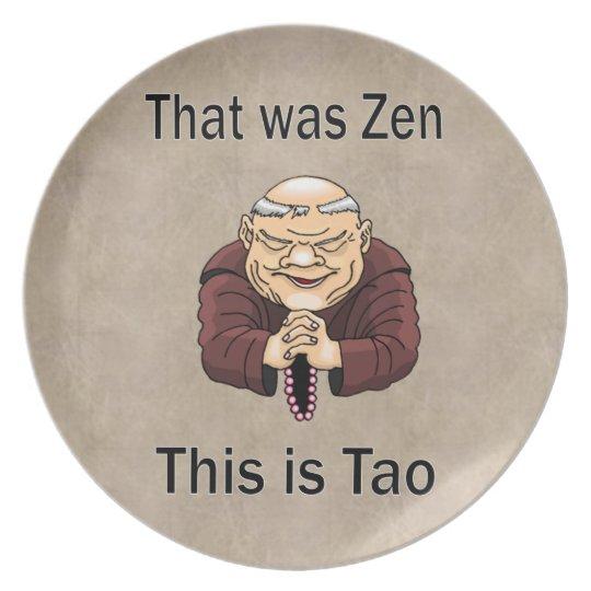 Zen and Tao Melamine Plate
