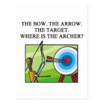 zen archery koan postcard