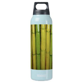 Zen Asian Green | Bamboo Stalks Botanical Photo Insulated Water Bottle