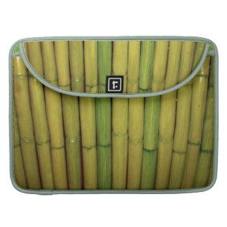 Zen Asian Green Bamboo Stalks Botanical Photo MacBook Pro Sleeves
