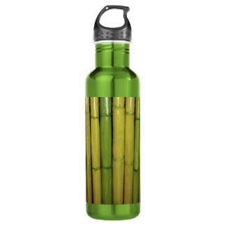 Zen | Asian Green Bamboo Stalks Botanical Photo Water Bottle