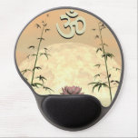 "Zen aum - 3D render Gel Mouse Pad<br><div class=""desc"">Aum upon one lily flower and between bamboos in front of moon</div>"