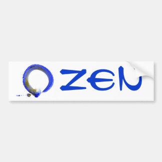 Zen azul Enso Pegatina De Parachoque