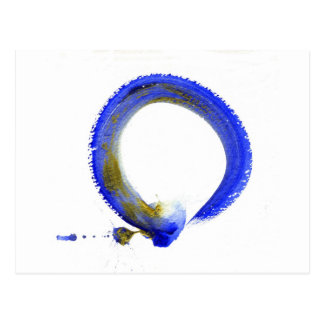 Zen azul Enso Postales
