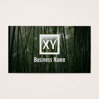 Zen Bamboo Forest Business Card