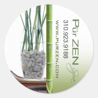 Zen Bamboo Massage Therapist Spa Classic Round Sticker