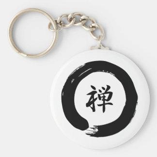 Zen Basic Round Button Keychain