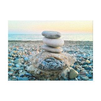 Zen Beach Stones Canvas Print