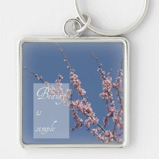 Zen- Beauty is Simple Cherry Blossom Key Chain