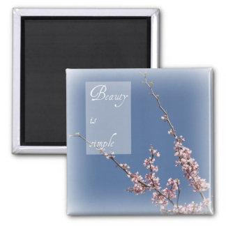 Zen- Beauty is Simple Cherry Blossom Magnet