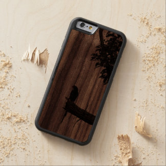 Zen Bird Oriental Zen Photography Carved Walnut iPhone 6 Bumper Case