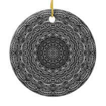 Zen Black and white mandala Sophisticated ornament
