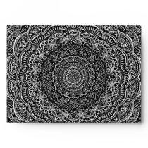 Zen Black and white mandala Sophisticated ornament Envelope