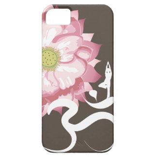 Zen blanco del símbolo de OM de Lotus de la yoga r iPhone 5 Case-Mate Cárcasa