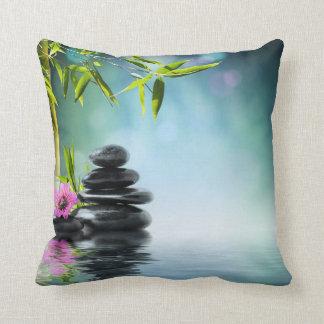 Zen bliss meditation peace yoga chakra namaste throw pillow