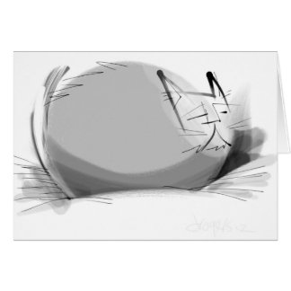 Zen brush peace cat card