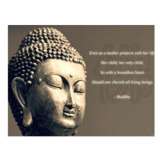 Zen Buddha Cherish Mother Quote Inspirational Postcard