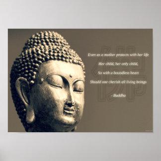 Zen Buddha Cherish Mother Quote Inspirational Poster