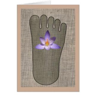 Zen Buddha Foot Flower Greeting Card