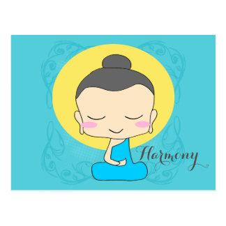 """Zen Buddha """"Harmony"""" Postcard"""