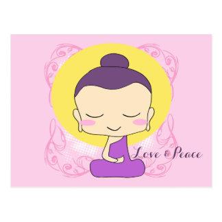 "Zen Buddha ""Love and Peace"" Postcard"